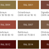 RAL-Farben-Tabelle