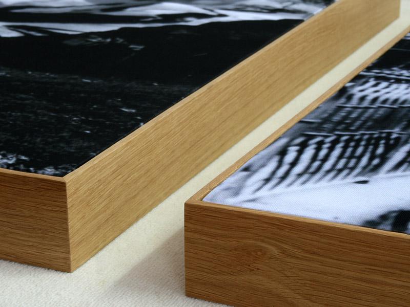 Akustikbilder im Eichenrahmen - Galerie